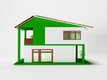 A simple two-story house. Nice simple two-story house, 3d rendering Stock Photo