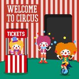 Circus Illustration Vector Art Logo Template and Illustration. Simple and unique for circus Illustration  various purposes, for best use Royalty Free Stock Photos