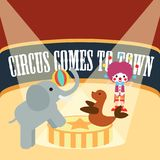 Circus Illustration Vector Art Logo Template and Illustration. Simple and unique for circus Illustration  various purposes, for best use Stock Photo