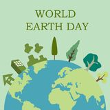 Earth day illustration Vector Art Logo Template and Illustration Stock Photography