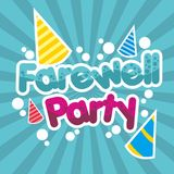 Farewell Party Illustration Vector Art Logo Template and Illustration. Simple and unique Farewell Party Illustration for various purposes, for best use Royalty Free Stock Images