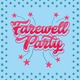 Farewell Party Illustration Vector Art Logo Template and Illustration. Simple and unique Farewell Party Illustration for various purposes, for best use Royalty Free Stock Photo