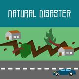 Natural Disaster Illustration Vector Art Logo Template. Simple and unique Natural Disaster Illustration for various purposes, for best use Royalty Free Stock Image