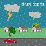 Natural Disaster Illustration Vector Art Logo Template. Simple and unique Natural Disaster Illustration for various purposes, for best use Royalty Free Stock Images