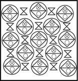 Simple unique square gate design with element stock illustration