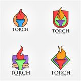 Torch Logo Vector Art Logo. Simple and unique Torch Logo vector illustration for various purposes, and best use Stock Photos