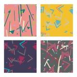 Simple universal colorful geometric seamless pattern. Set of simple universal colorful geometric seamless pattern royalty free illustration