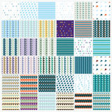 Simple universal colorful geometric seamless pattern. Set of simple universal colorful geometric seamless pattern vector illustration