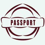 SIMPLE AND USEFUL BADGE PASSPORT Royalty Free Stock Photo