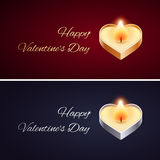 Simple Valentines Day Card with Golden and Silver Royalty Free Stock Images