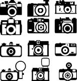 Simple various camera icon  set 5 of 6.  Royalty Free Stock Images