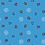 Simple vector background - cubes in blue Royalty Free Stock Photography