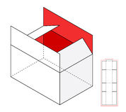 Simple vector box template Stock Photos