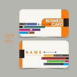 Simple vector business card set template. Design Stock Image