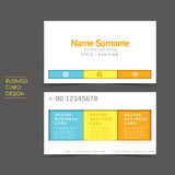 Simple vector business card set template. Design Stock Images