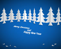 Simple vector christmas paper trees Royalty Free Stock Photos