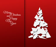 Simple vector christmas tree made from papers Royalty Free Stock Photo