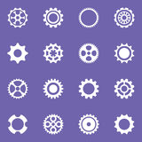 Simple vector cog wheels and gears Royalty Free Stock Images