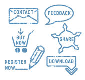 Simple vector contact, feedback, share, buy icons Stock Photography