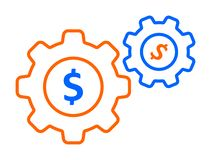 Gear dollar icon vector illustration