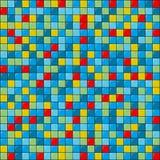 Vector flat art geometric pattern of colored squares with glare. Simple vector flat art geometric pattern of colored squares with glare stock illustration