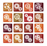 Simple vector gear buttons Royalty Free Stock Image
