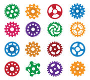 Simple vector gears Royalty Free Stock Images
