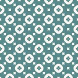 Simple vector abstract geometric floral seamless pattern. Green and white color stock illustration