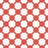 Simple vector geometric seamless pattern with red grid, mesh, net, repeat tiles. Elegant vector geometric seamless pattern with grid, mesh, net, lathing. Red and vector illustration