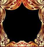 Simple Vector  Gold Curtain Stock Photo