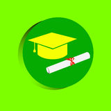Simple vector of Graduation cap Royalty Free Stock Photos