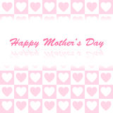 Simple vector heart background for mother's day Royalty Free Stock Photography