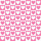 Simple vector heart pattern Royalty Free Stock Photo