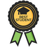 Simple Vector Icon of a classic encouragement badge in flat style. Pixel perfect. Basic education element. Stock Images