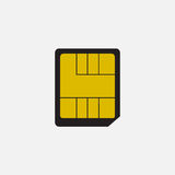 Simple vector icon: nano SIM card Royalty Free Stock Images