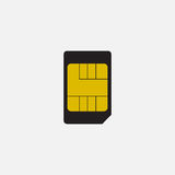 Simple vector icon: SIM card Royalty Free Stock Photo