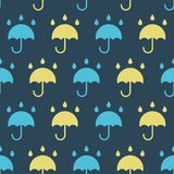 Simple vector illustration with ability to change. Pattern with rain umbrella. Pattern with rain umbrella. Simple vector illustration with ability to change royalty free illustration