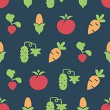 Simple vector illustration with ability to change. Pattern with vegetables. Pattern with vegetables. Simple vector illustration with ability to change royalty free illustration