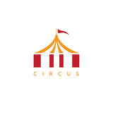 Simple vector illustration with circus tent Stock Images