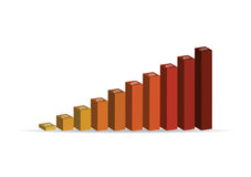 Simple vector illustration of 3D column graph Royalty Free Stock Photography