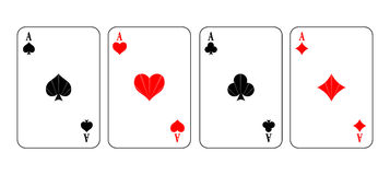 Simple vector illustration of game cards Stock Images