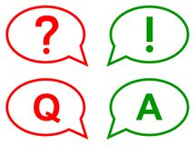 Speech bubbles. question and answer concept. Simple vector illustration of speech bubbles question and answer concept on isolated Royalty Free Stock Images