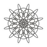 Simple vector mandala shape for coloring, an ideal coloring page for kids and adults vector illustration