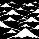 Simple vector mountains black and white dark background eps10 Stock Photos