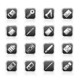 Simple Vector Object Icons Stock Images