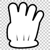 Outline Counting Hand, Four at Transparent Effect Background. Simple Vector Outline Counting Hand, Four at Transparent Effect Background Royalty Free Stock Photography