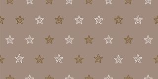 Simple vector pattern star illustration. Brown, beige, warm colors. Simple vector pattern star illustration. Print for textiles Stock Photos