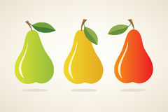 Simple vector pears Royalty Free Stock Image