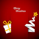 Simple vector red christmas card illustration Royalty Free Stock Photos