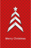 Simple vector red christmas card – tree Stock Photo